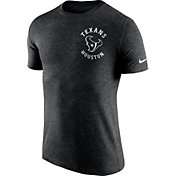 Nike Men's Houston Texans Helmet Tri-Blend Black T-Shirt