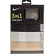 Nike Men's Web Golf Belt 3-Pack