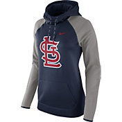 Nike Women's St. Louis Cardinals Grey Therma Pullover Hoodie