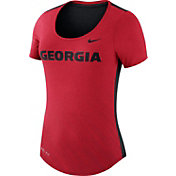 Nike Women's Georgia Bulldogs Red Dri-Blend Scoop Neck T-Shirt