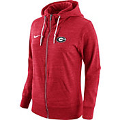 Nike Women's Georgia Bulldogs Heathered Red Tailgate Gym Vintage Full-Zip Hoodie