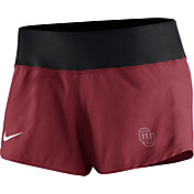 Nike Women's Oklahoma Sooners Crimson Gear Up Crew Performance Shorts
