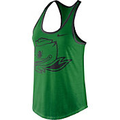 Nike Women's Oregon Ducks Apple Green Dri-Blend Tank Top