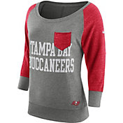 Nike Women's Tampa Bay Buccaneers Tailgate Vintage Crew Grey Long Sleeve Shirt