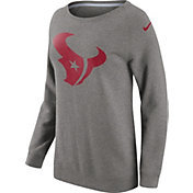 Nike Women's Houston Texans Championship Drive 2016 Grey BF Crew Sweatshirt