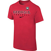 Nike Youth Georgia Bulldogs Red Core Facility Football Sideline T-Shirt