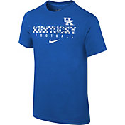 Nike Youth Kentucky Wildcats Blue Core Facility Football Sideline T-Shirt