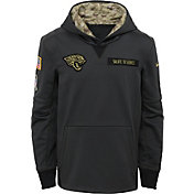 Nike Youth Jacksonville Jaguars Salute to Service 2016 Anthracite Pullover Hoodie