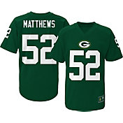 NFL Team Apparel Youth Green Bay Packers Clay Matthews #52 Green T-Shirt
