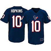 NFL Team Apparel Youth Houston Texans DeAndre Hopkins #10 Navy Performance T-Shirt