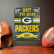 Party Animal Green Bay Packers Embossed Metal Sign