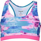 Reebok Girls' Printed Compression Fit Sports Bra