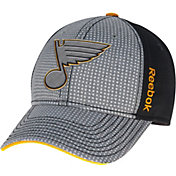 Reebok Men's St. Louis Blues Center Ice Two-Tone Grey/Black Structured Flex Hat