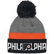 Reebok Men's Philadelphia Flyers Center Ice Cuffed Pom Knit Hat