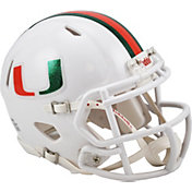 Riddell Miami Hurricanes Metallic Speed Mini Football Helmet