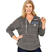 Soft As A Grape Women's New York Yankees Grey Hoodie