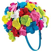 Speedo Flower Swim Cap with Strap
