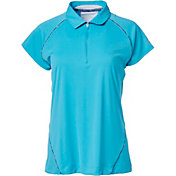 Slazenger Women's Luminescent Collection Space Dye Piecing Golf Polo