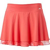 Slazenger Women's Printed Perforated Flounce Tennis Skort