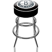 Trademark Games Brooklyn Nets Padded Bar Stool