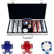 Trademark Poker 300 Hold'Em Poker Chip Set and Case