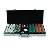 Trademark Poker 500 Pro Clay Casino Chip Poker Set and Case