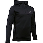 Under Armour Boys' Storm Armour Fleece Quarter Zip Hoodie