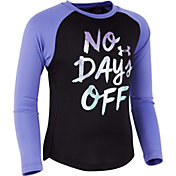 Under Armour Little Girls' No Days Off Long Sleeve Shirt
