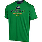 Under Armour Men's Notre Dame Fighting Irish Green Charged Cotton T-Shirt