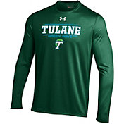 Under Armour Men's Tulane Green Wave Green Long Sleeve Tech T-Shirt