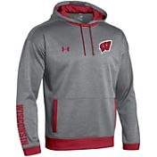 Under Armour Youth Wisconsin Badgers Grey/Red Momentum Fleece Hoodie