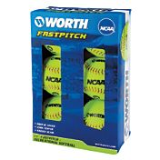 "Worth 11"" NCAA Fastpitch Softballs - 6 Pack"
