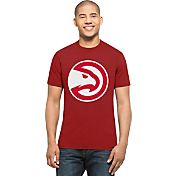 '47 Men's Atlanta Hawks Splitter Logo Red T-Shirt