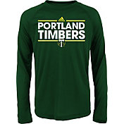 adidas Youth Portland Timbers Dassler Long Sleeve Green T-Shirt