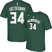 adidas Youth Milwaukee Bucks Giannis Antetokounmpo #34 Green T-Shirt