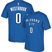 adidas Youth Oklahoma City Thunder Russell Westbrook #0 Blue T-Shirt