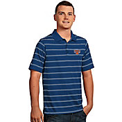Antigua Men's New York Knicks Deluxe Royal Striped Performance Polo