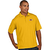 Antigua Men's Los Angeles Lakers Xtra-Lite Gold Pique Performance Polo