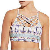 CALIA by Carrie Underwood Women's Inner Power Front Strap Printed Sports Bra