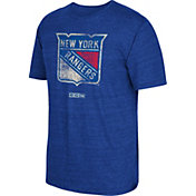 CCM Men's New York Rangers Distressed Logo Royal T-Shirt