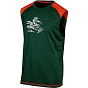 Champion Men's Miami Hurricanes Green Muscle Tee