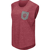 Colosseum Athletics Women's Indiana Hoosiers Crimson Pocket Tank Top