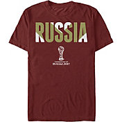 Fifth Sun Men's FIFA 2017 Confederations Cup Russia Chevron Cardinal Crew T-Shirt