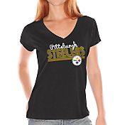 Touch by Alyssa Milano Women's Pittsburgh Steelers Foil V-Neck T-Shirt
