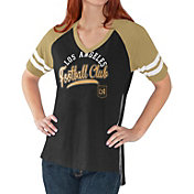 G-III For Her Women's Los Angeles FC Fastball Black T-Shirt