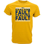 Levelwear Men's Nashville Predators All Your Fault Gold T-Shirt
