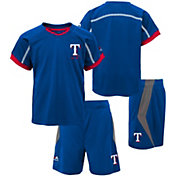 Majestic Boys' Texas Rangers Cool Base Legacy Shorts & Top Set