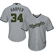 Majestic Men's Replica Washington Nationals Bryce Harper #34 2017 Memorial Day Cool Base Jersey