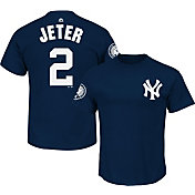 Majestic Men's New York Yankees Derek Jeter #2 Jersey Retirement Navy T-Shirt