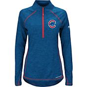 Majestic Women's Chicago Cubs Cool Base Royal Half-Zip Pullover